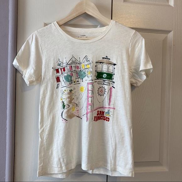 J.crew Collection San Francisco Tee Shirt